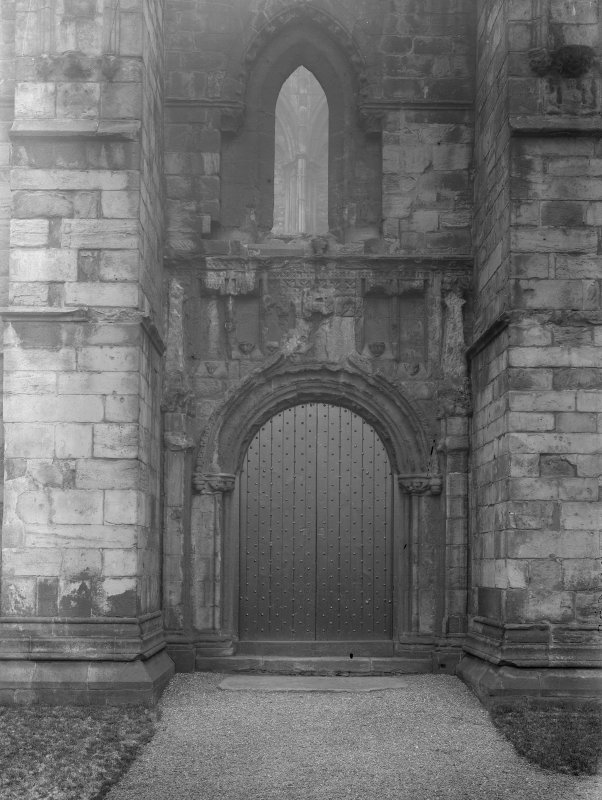 General view of North doorway of Holyrood Abbey (Chapel Royal)