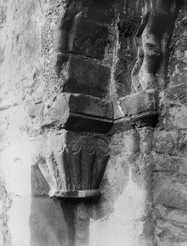 Detail of capital in Holyrood Abbey (Chapel Royal)