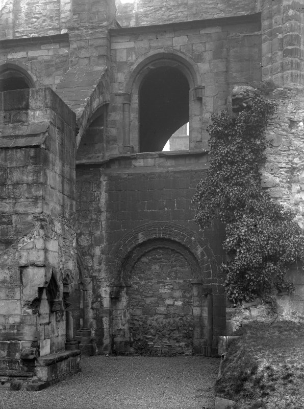 General view of South East doorway of Holyrood Abbey (Chapel Royal)