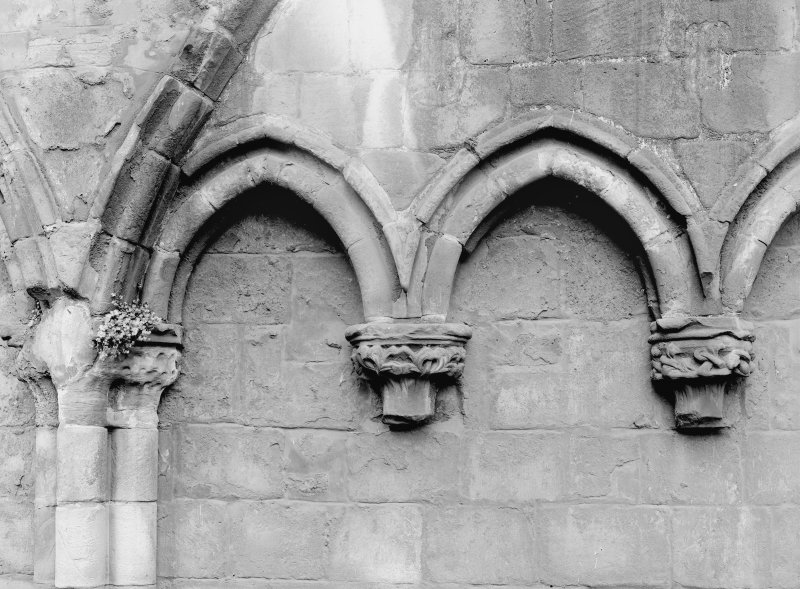 Detail of arcading in South Aisle of Holyrood Abbey (Chapel Royal)