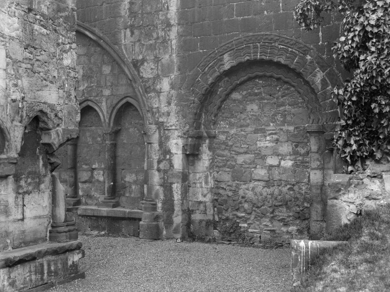 General view of blocked South East doorway and part of South Aisle in Holyrood Abbey (Chapel Royal)