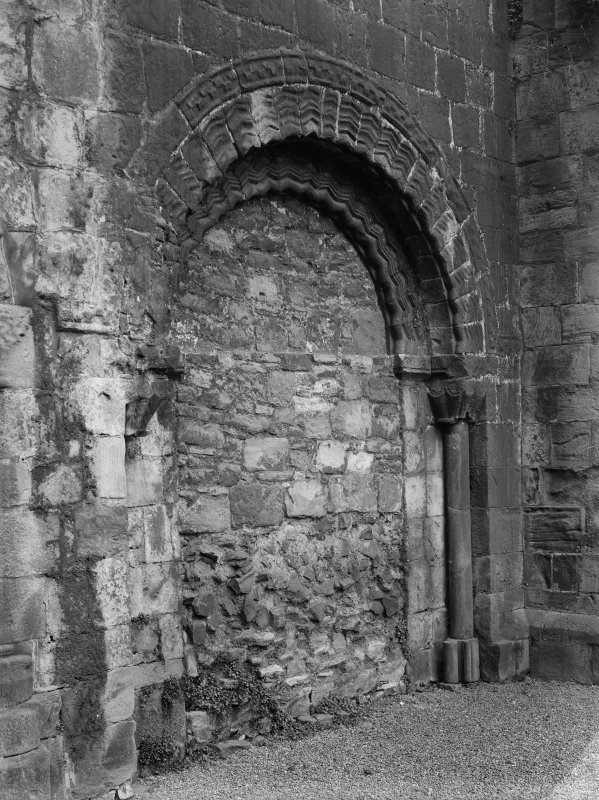 General view of blocked South East doorway in South Aisle of Holyrood Abbey (Chapel Royal)