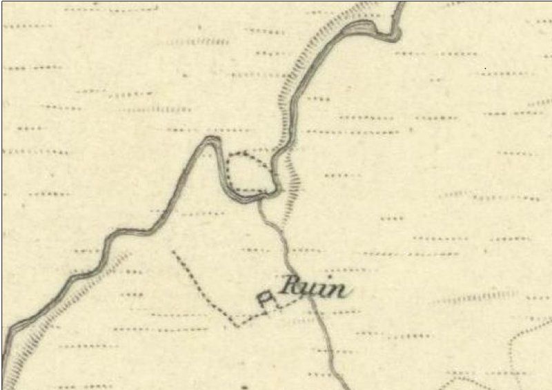Logan Burn as depicted on the 1st Edition of the Ordnance Survey 6-inch map (Edinburghshire 1853, sheet 11)