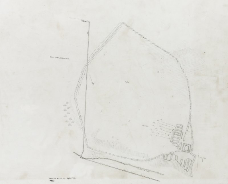 Grain Burn: measured survey drawn at 1:500 by Midlothian Field Group (drawn up by Jane Murray)