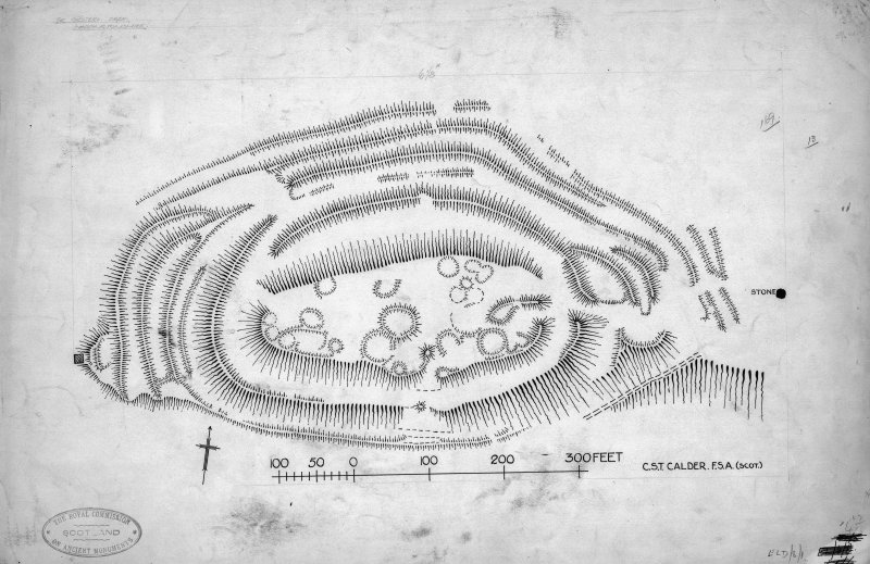 Publication drawing; plan of fort, Chesters, Drem.