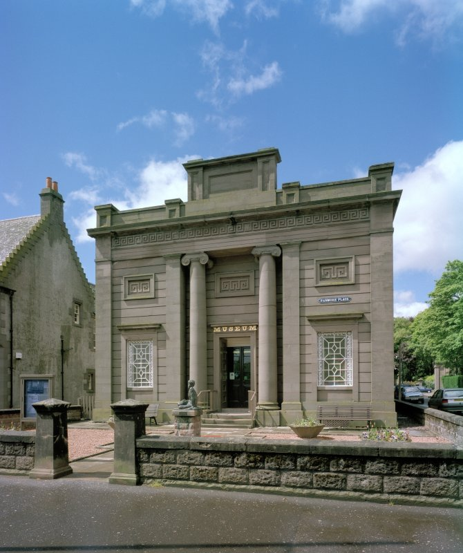 View of E entrance elevation, Montrose Museum, from E.