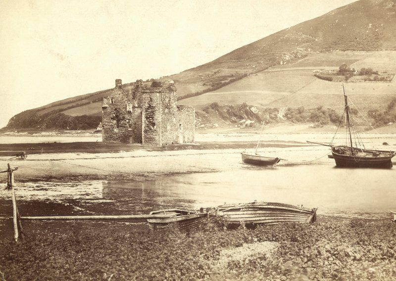 Historic photograph showing view of Lochranza Castle, Arran,from South-West.