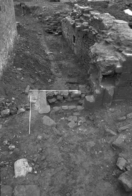 Jedburgh Abbey excavation archive Frame 23: Trench L: E entrance of Room 6, from E