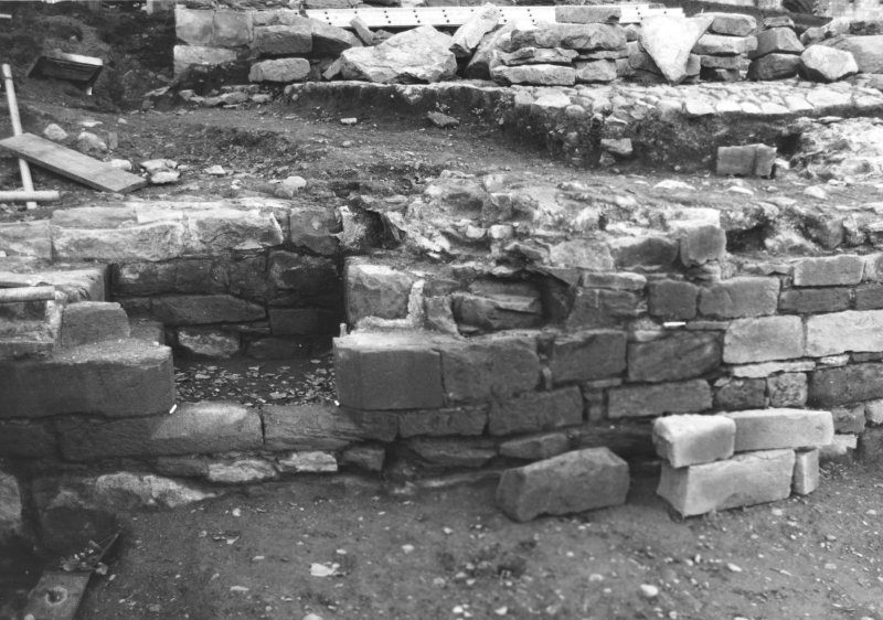 Jedburgh Abbey excavation archive  'Abbot's Hall'. Masons' marks X120, X121 and X122.