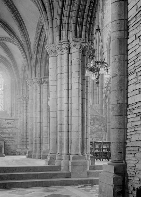 Interior. Choir, view of N arcade.