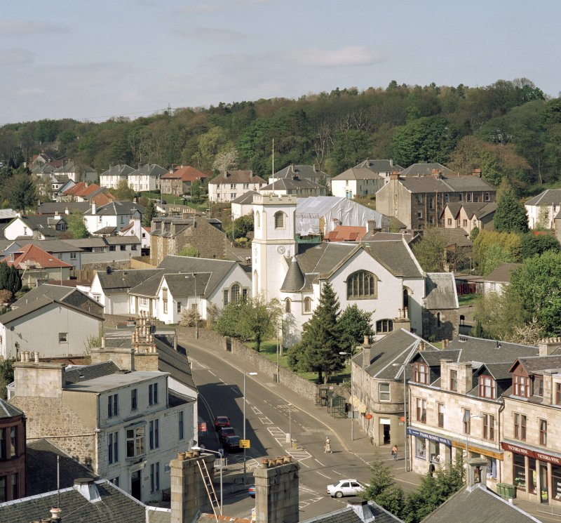 View of village looking north from tower of St. Columba's church