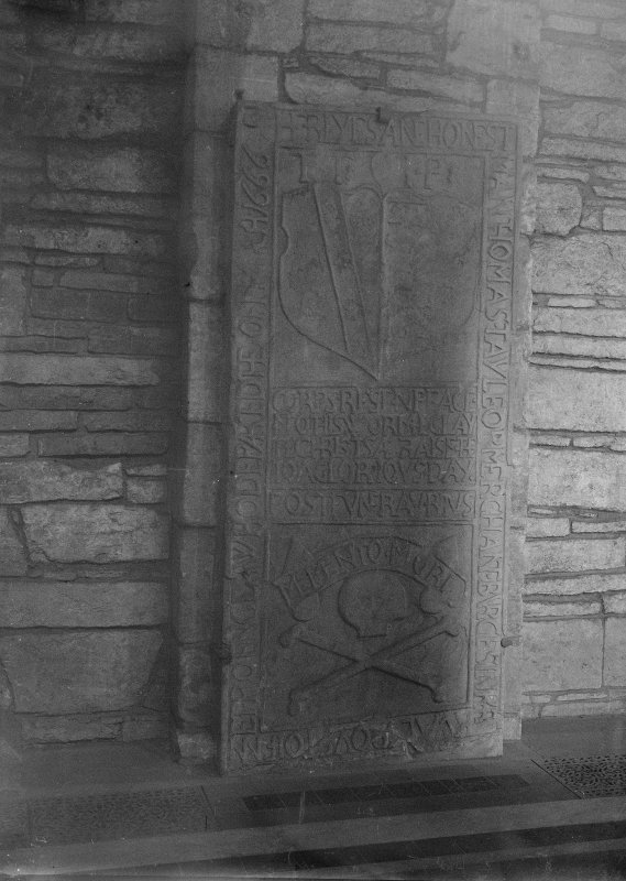 Detail of tombstone of Thomas Taylor.