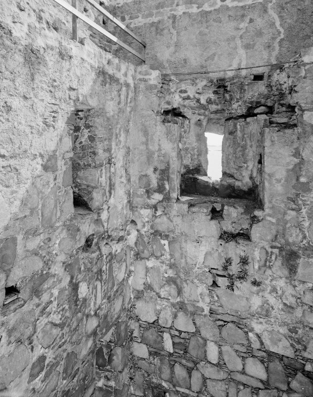 Interior. Second floor, view of keep looking S.