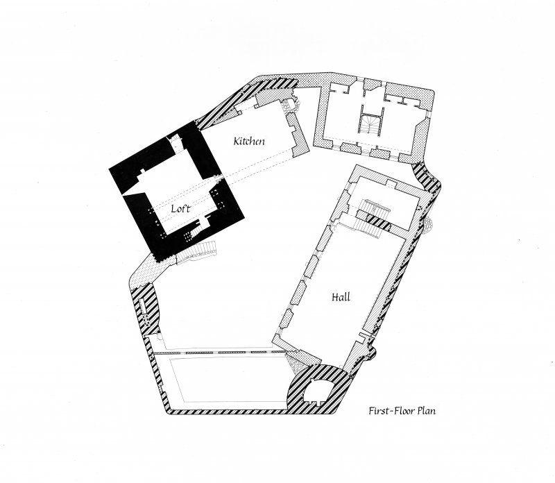 Drawing showing plan of first floor.