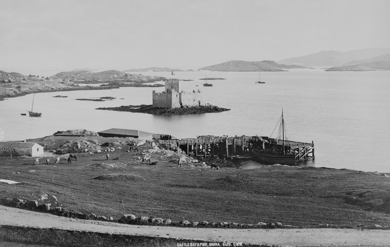 Historic photograph showing view from NW.