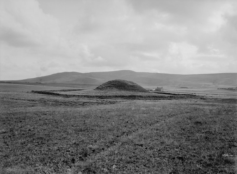 General view of cairn from north west.