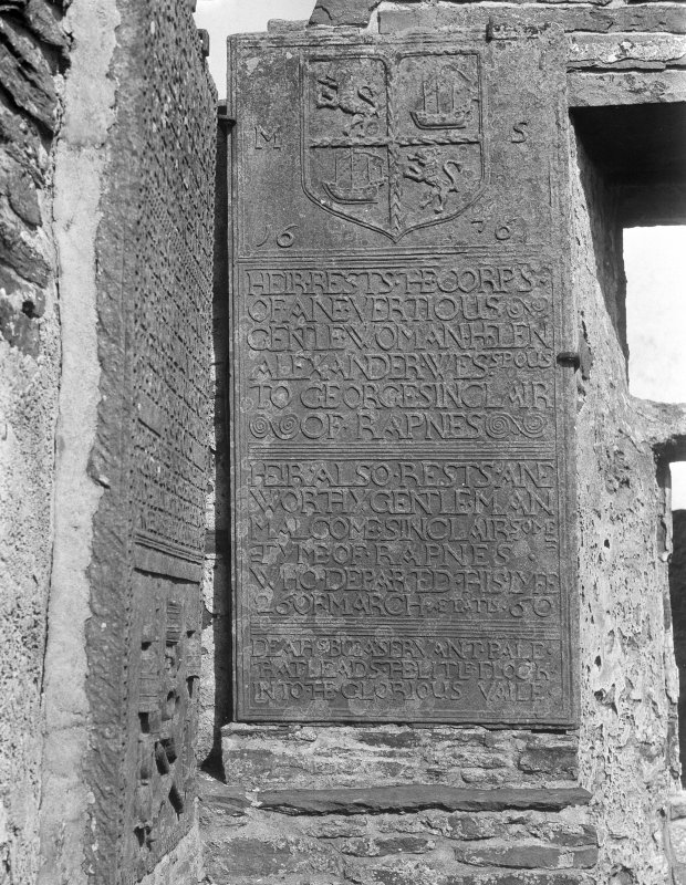 Detail of tombstone.