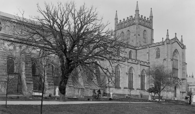 View of Dunfermline Abbey.