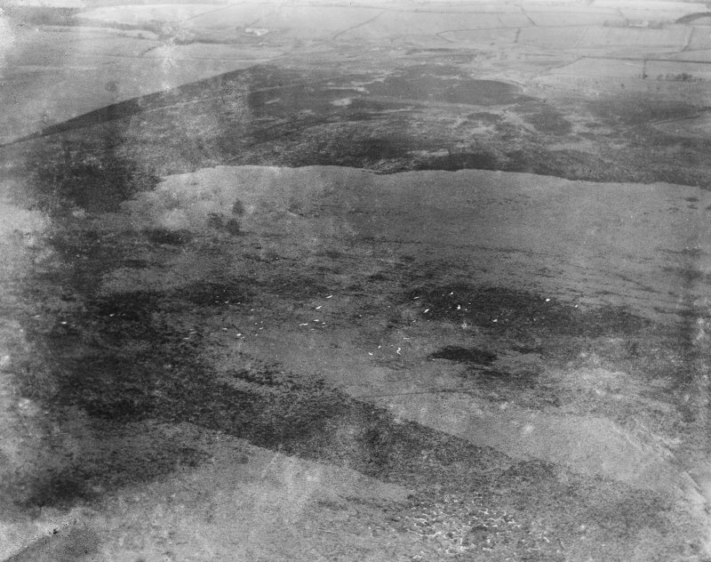 Unlocated moorland.  Oblique aerial photograph.