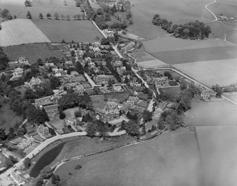 Moffat, general view, showing Well Road and Haywood Road.  Oblique aerial photograph taken facing south-east.