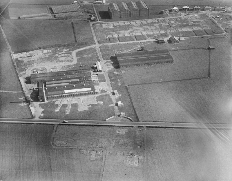 India Tyre and Rubber Co. Factory, Greenock Road, Inchinnan.  Oblique aerial photograph taken facing south.