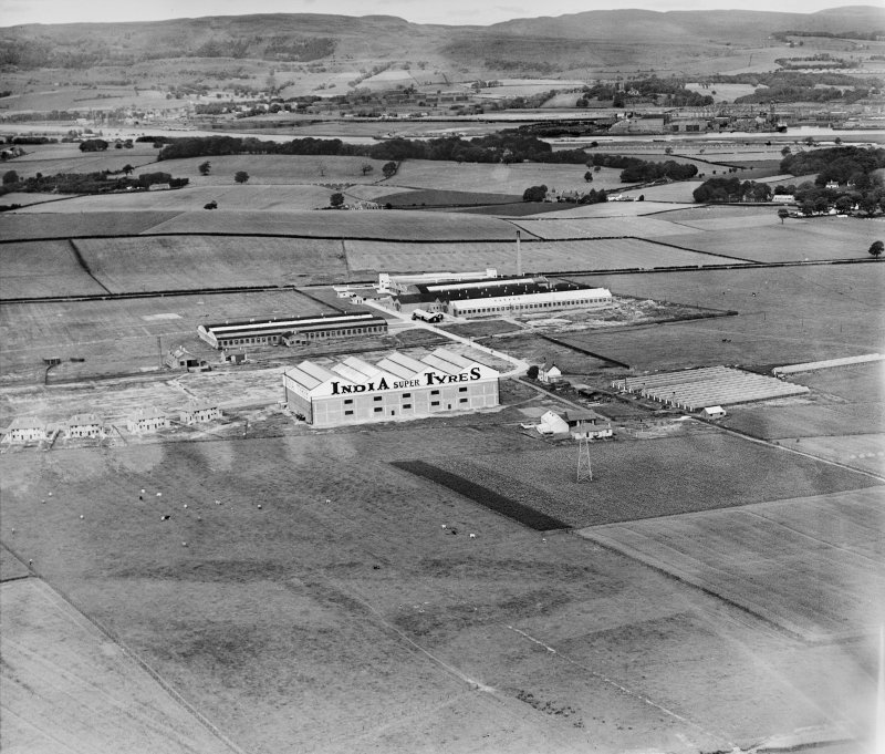 India Tyre and Rubber Co. Factory, Greenock Road, Inchinnan.  Oblique aerial photograph taken facing north.