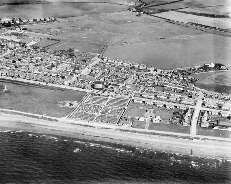 Girvan, general view, showing Henrietta Street and George Street.  Oblique aerial photograph taken facing east.