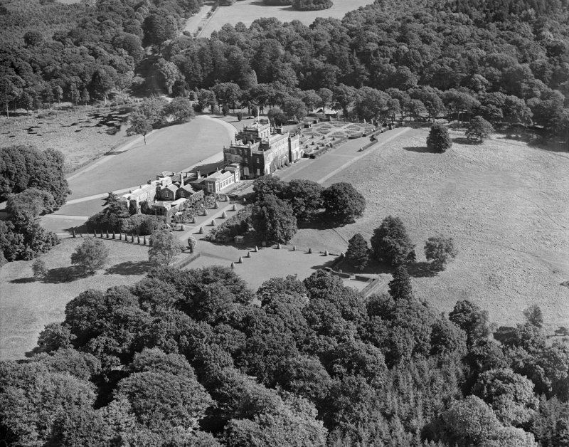 Kinmount House, Annan.  Oblique aerial photograph taken facing north-east.