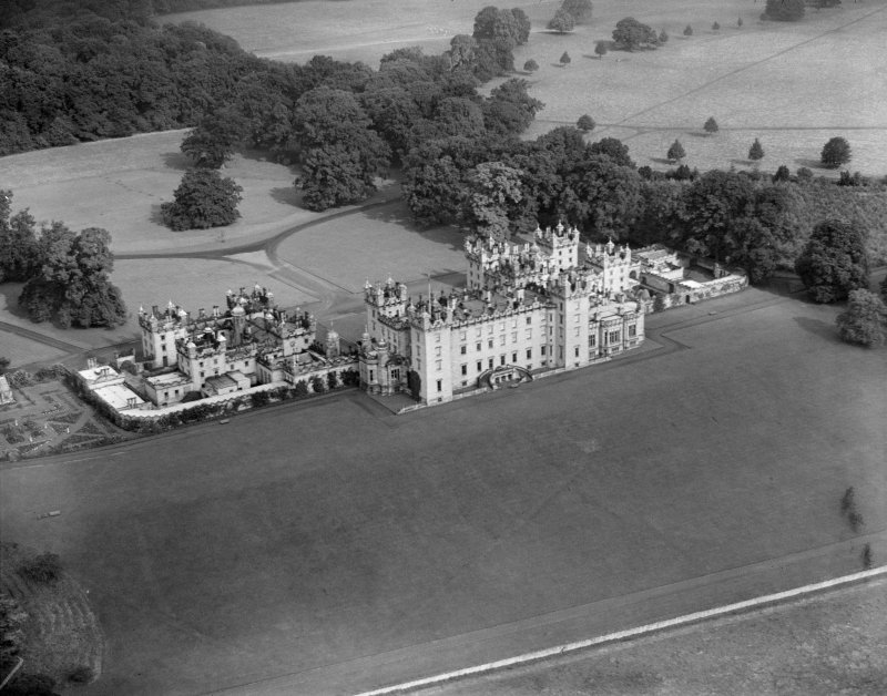 Floors Castle, Kelso.  Oblique aerial photograph taken facing north.