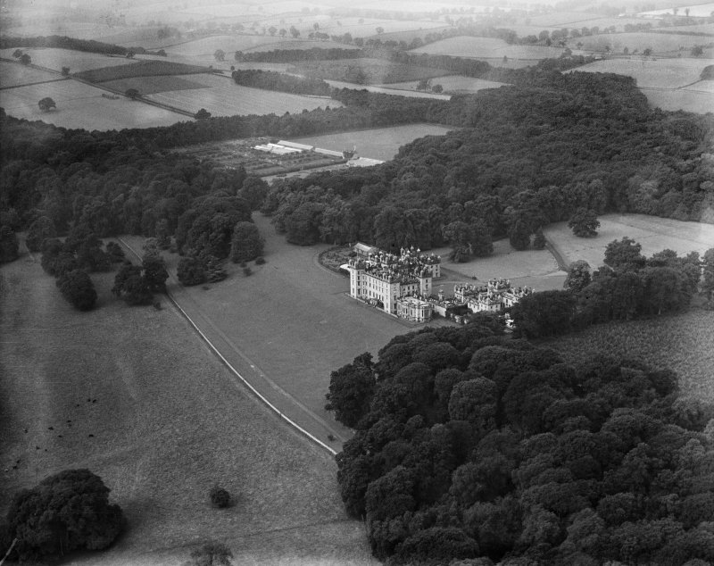 Floors Castle, Kelso.  Oblique aerial photograph taken facing west.
