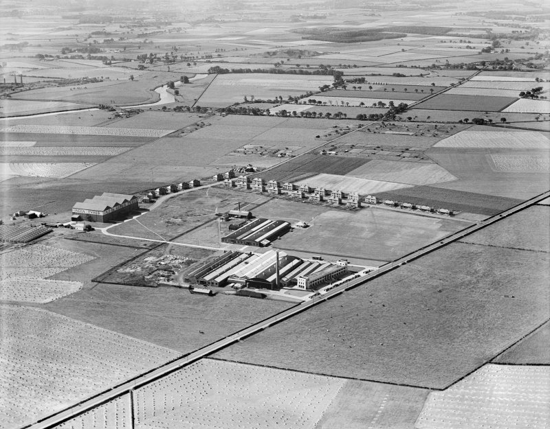 India Tyre and Rubber Co. Factory, Greenock Road, Inchinnan.  Oblique aerial photograph taken facing south-west.