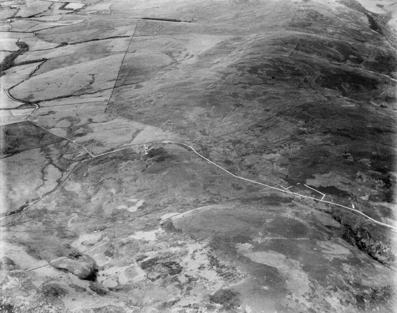 Glenapp Estate, general view, showing Finnarts Hill and Penderry Hill.  Oblique aerial photograph taken facing north-east.