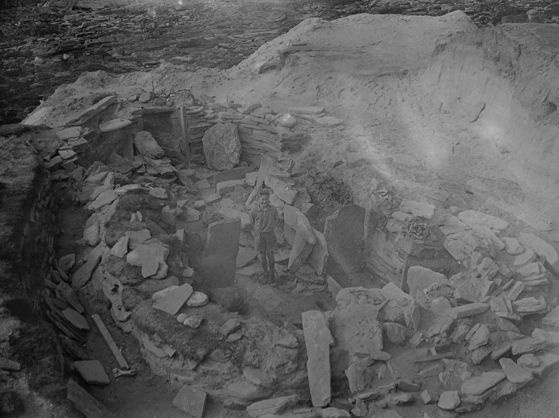 Excavation photograph: House 2, general view of interiors, looking W.
