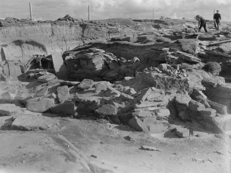 Excavation photograph: General view of excavation from N. with house 2 in foreground. Copy negative 1995. Original print in Print Room.