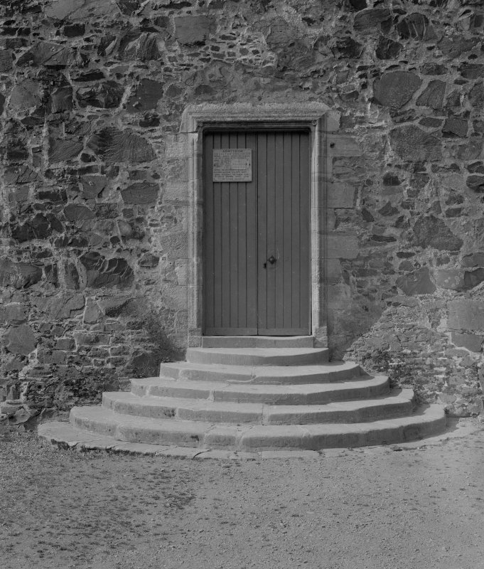 View of main entrance, C17th doorway