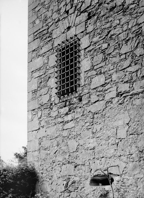 Elcho Castle. View of window grill.