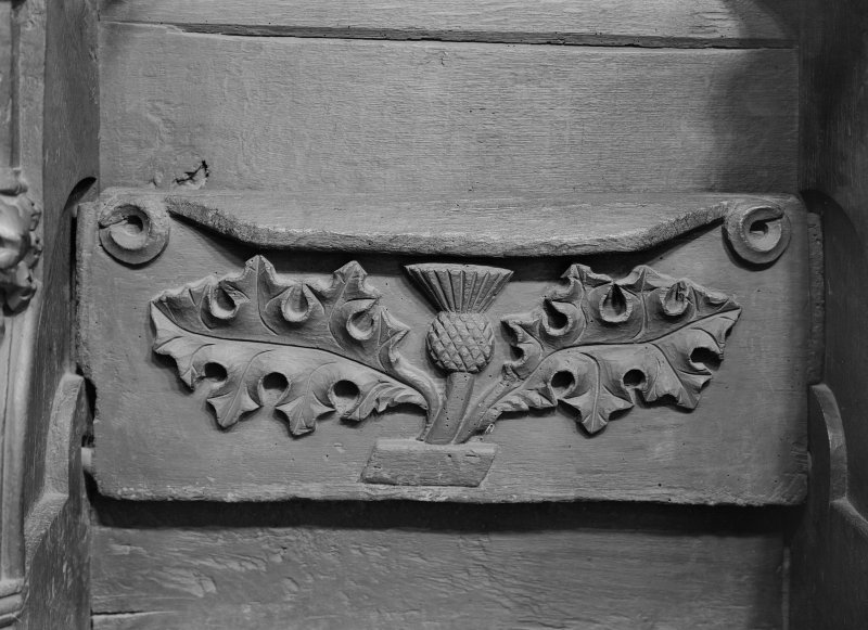 Interior. Choir, detail of misericord.
