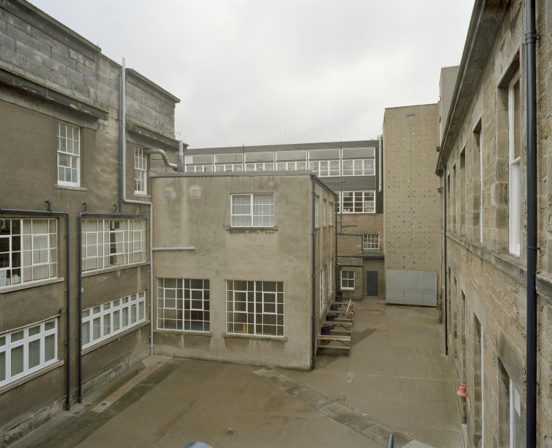 Courtyard to rear, general view from east