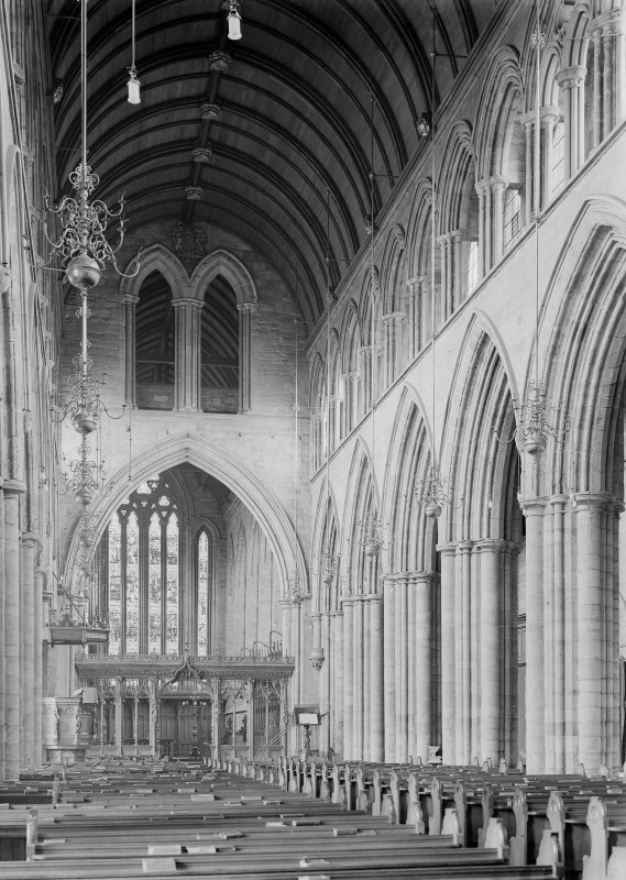 Interior. View of nave from NW.