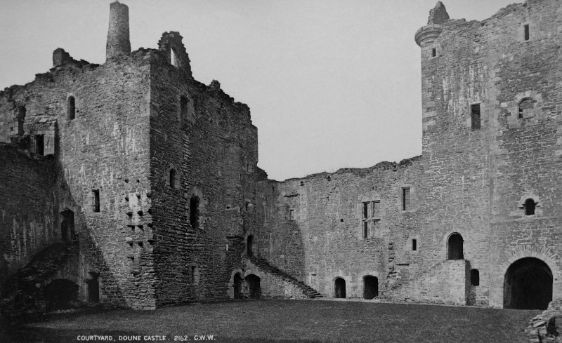 Copy of historic photograph showing view of courtyard from SE.