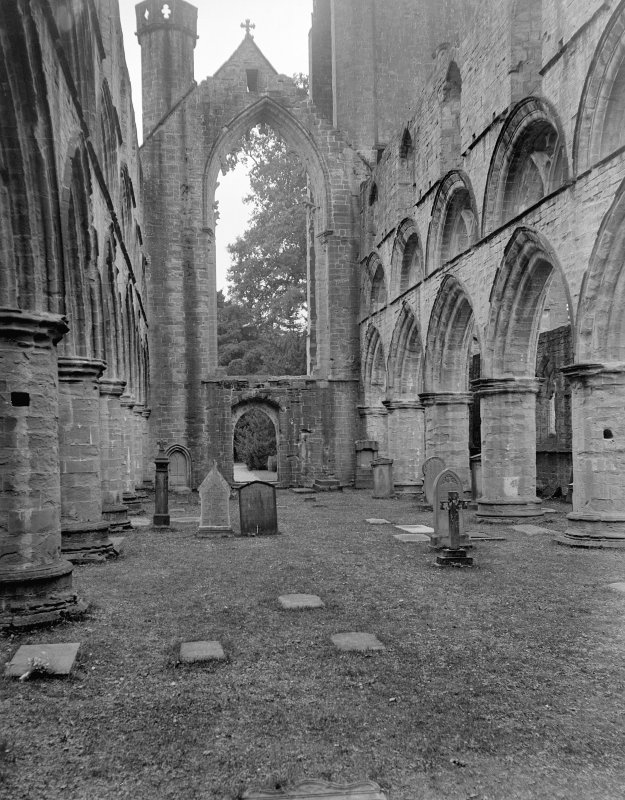 Dunkeld, Dunkeld Cathedral, interior. View of nave from East.