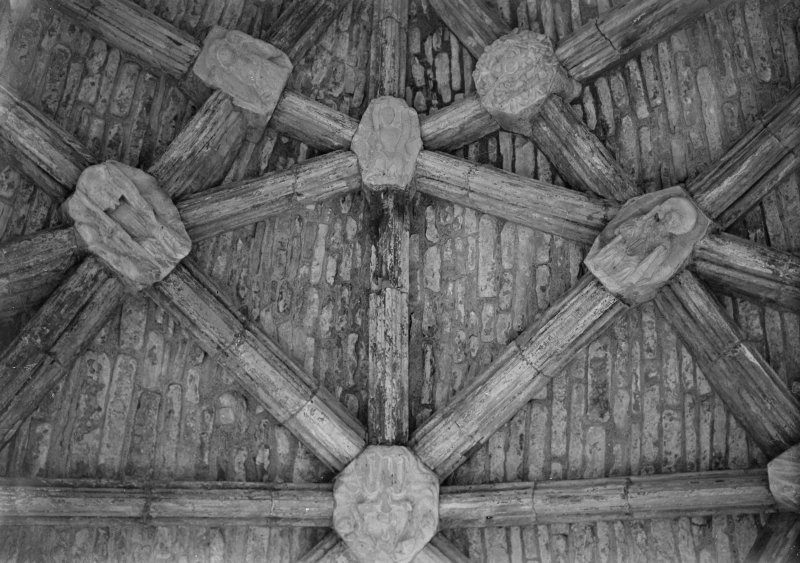 Interior. Detail of chancel ceiling boss.