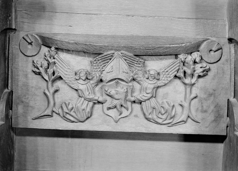 Choir, detail of misericord - Chisholm Crest