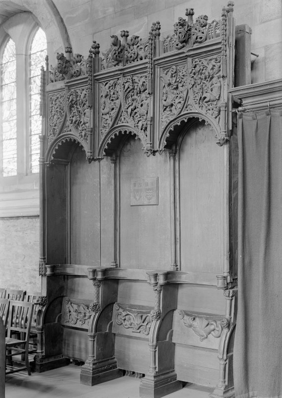 Choir, view of stalls.