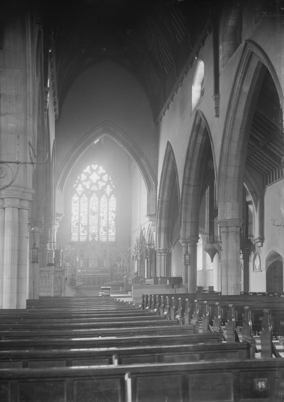 Perth, St Ninian's Cathedral. Interior view looking towards altar.