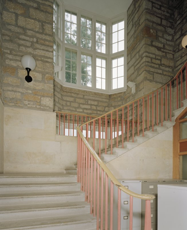 Interior view of East stairwell