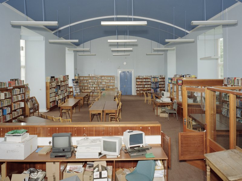 General interior view of Library from East