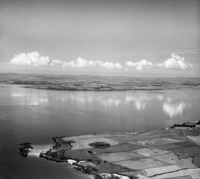 Wigtown Bay, general view, showing Ringdoo Point.  Oblique aerial photograph taken facing west.