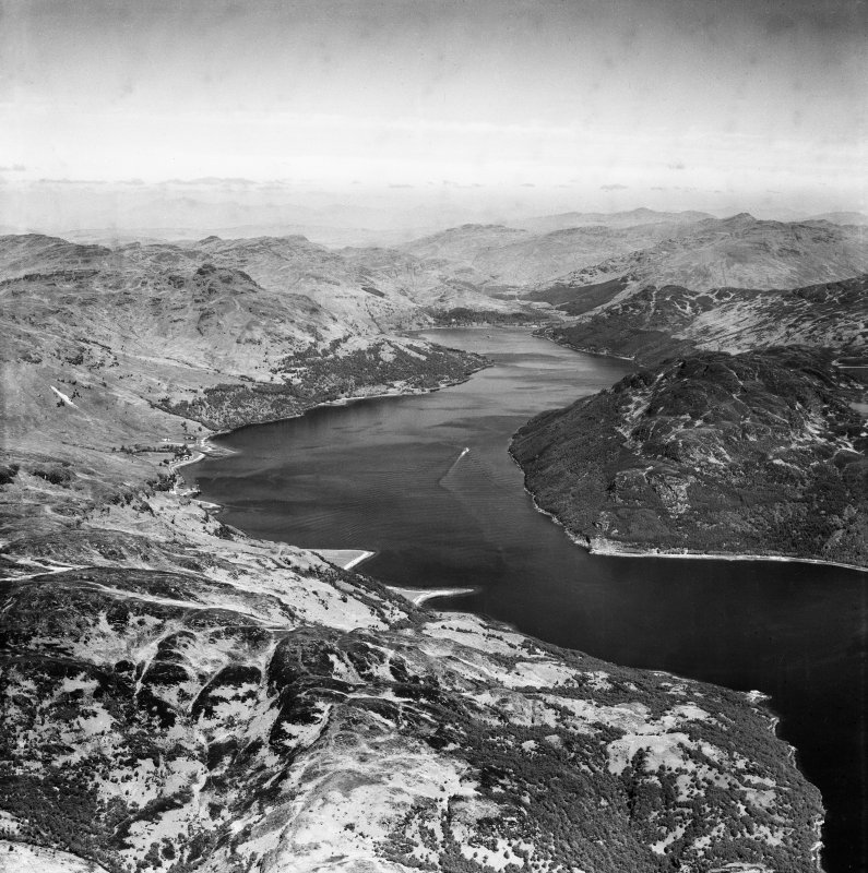 Loch Goil, general view.  Oblique aerial photograph taken facing north.