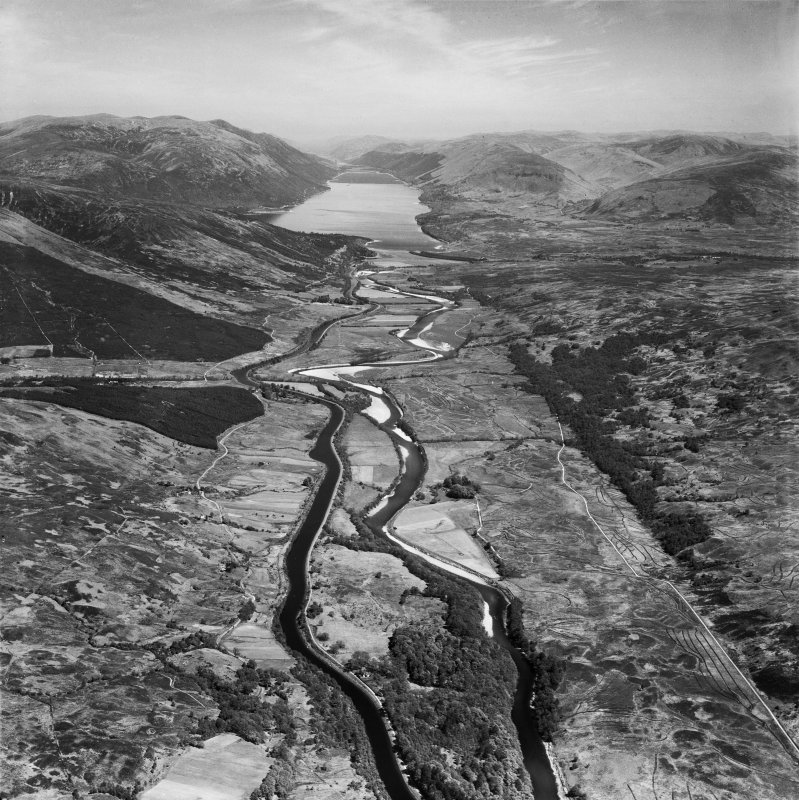 Caledonian Canal and River Lochy.  Oblique aerial photograph taken facing north-east.